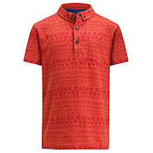 Buy John Lewis Boy Aztec Print Polo Shirt Online at johnlewis.com