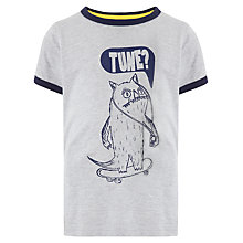 Buy John Lewis Boy Monster Marl T-shirt, Grey Online at johnlewis.com