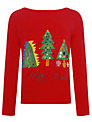Kids Company Christmas Tree Long Sleeved Top, Red/Multi