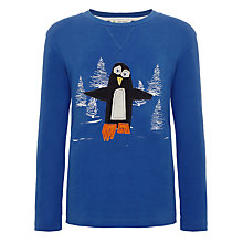 Buy Kids Company Penguin Long Sleeved Top, Blue Online at johnlewis.com