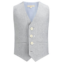 Buy John Lewis Heirloom Collection Boys' Ticking Stripe Waistcoat, Blue/White Online at johnlewis.com