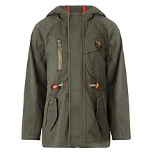 Buy Kin by John Lewis Boys' Coated Parker, Green Online at johnlewis.com
