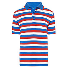 Buy John Lewis Boy Stripe Polo Shirt, Red/Blue/White Online at johnlewis.com