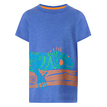 Buy John Lewis Boy Iguana Print T-shirt, Blue Online at johnlewis.com