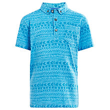 Buy John Lewis Boy Aztec Print Polo Shirt, Blue Online at johnlewis.com