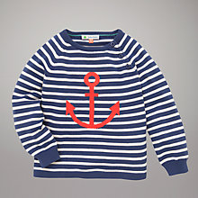 Buy John Lewis Anchor Stripe Jumper, Navy Online at johnlewis.com
