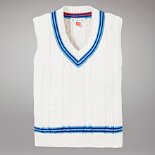 Buy John Lewis Cable Knit Cricket Tank Top, Cream Online at johnlewis.com
