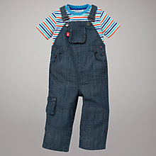 Buy John Lewis Chambray Dungarees and Striped T-Shirt Set, Multi Online at johnlewis.com
