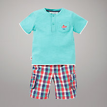 Buy John Lewis Grandad T-Shirt and Checked Shorts Set, Multi Online at johnlewis.com