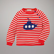 Buy John Lewis Submarine Stripe Jumper, Red Online at johnlewis.com