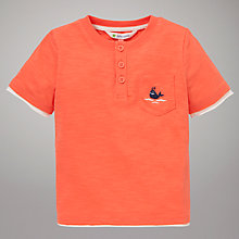 Buy John Lewis Plain Grandad T-Shirt, Coral Online at johnlewis.com