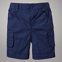 Buy John Lewis Poplin Shorts, Navy Online at johnlewis.com