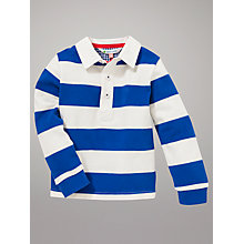 Buy John Lewis Striped Rugby Top, Navy/White Online at johnlewis.com
