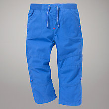 Buy John Lewis Poplin Roll-Up Trousers, Blue Online at johnlewis.com