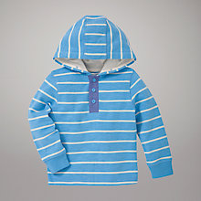 Buy John Lewis Striped Hoodie, Blue Online at johnlewis.com