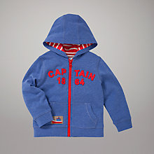 Buy John Lewis Captain Zip-Through Hoodie, Blue Online at johnlewis.com