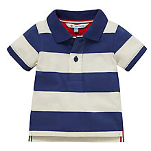 Buy John Lewis Striped Jersey Polo Top, Navy/Cream Online at johnlewis.com