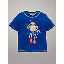 Buy John Lewis Diver Monkey T-Shirt, Blue Online at johnlewis.com