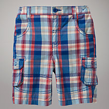 Buy John Lewis Check Poplin Shorts, Multi Online at johnlewis.com