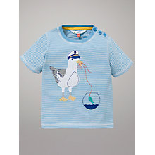 Buy John Lewis Seagull Stripe T-Shirt, Blue Online at johnlewis.com