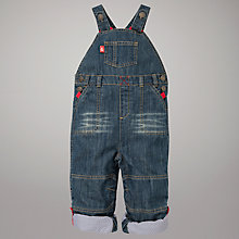 Buy John Lewis Roll-Up Dungarees, Denim Online at johnlewis.com