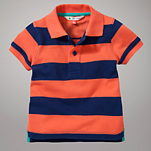 Buy John Lewis Pique Polo Top, Blue Online at johnlewis.com