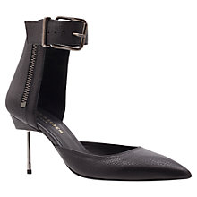 Buy Kurt Geiger Brick Stiletto Court Shoes, Black Online at johnlewis.com