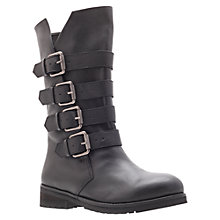 Buy KG by Kurt Geiger Trooper Calf Boots, Black Online at johnlewis.com