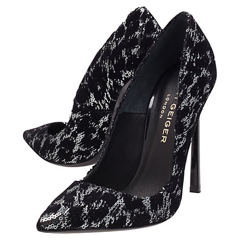 Buy Kurt Geiger Cilla Stiletto Court Shoe Black/Metallic Online at johnlewis.com