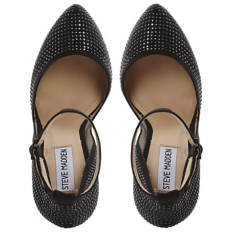 Buy Steve Madden Deeny-R Studded Platform Court Shoes, Black Online at johnlewis.com