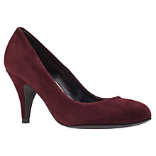 Buy Carvela Adam Suede Stiletto Heel Court Shoes, Wine Online at johnlewis.com