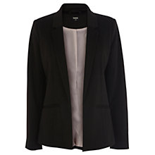 Buy Oasis Seamed Ponte Jacket, Black Online at johnlewis.com