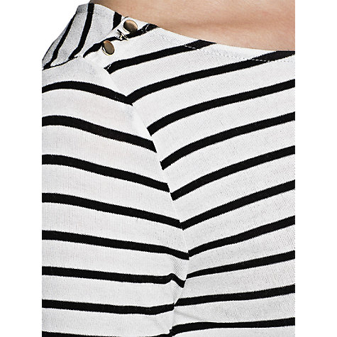 Buy Mango Beaded Stripe Top, Natural White Online at johnlewis.com