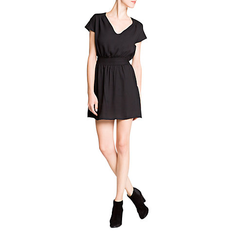 Buy Mango Flowing Applique Dress, Black Online at johnlewis.com