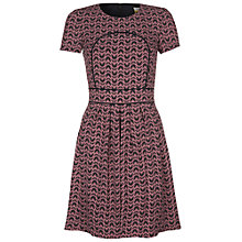 Buy Hobbs Butterfly Wing Dress, French Navy Multi Online at johnlewis.com