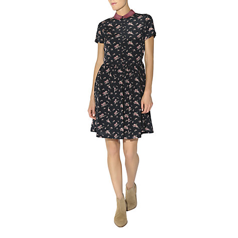 Buy Hobbs Carnation Dress, Navy Multi Online at johnlewis.com