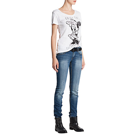 Buy Mango Disney Rhinestone T-Shirt, White Online at johnlewis.com