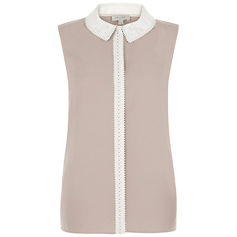 Buy Hobbs Lola Shirt, Nude/Ivory Online at johnlewis.com