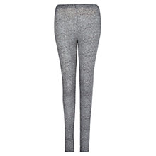 Buy Mango Leopard Print Leggings, Grey Online at johnlewis.com