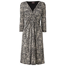 Buy Phase Eight Misty Print Dress, Black/Stone Online at johnlewis.com