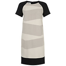 Buy Hobbs Clara Dress, Black/Stone Online at johnlewis.com