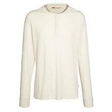 Buy Levi's Jersey Henley Top, White Online at johnlewis.com