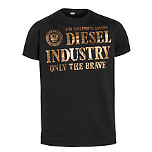 Buy Diesel Lappa Foil Logo T-Shirt, Black Online at johnlewis.com