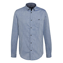 Buy Armani Jeans Chambray Long Sleeve Shirt, Blue Online at johnlewis.com