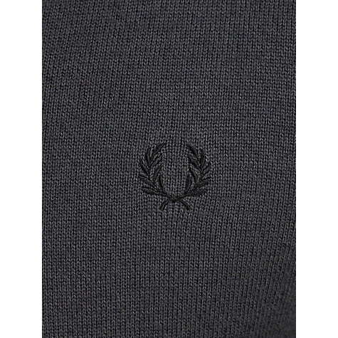 Buy Fred Perry Merino Wool V-Neck Jumper, Graphite Marl Online at johnlewis.com