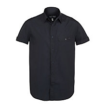 Buy Armani Jeans Poplin Short Sleeve Shirt, Navy Online at johnlewis.com