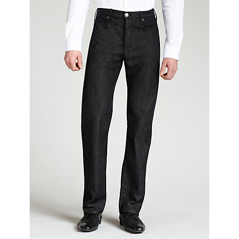 Buy Armani Jeans J81 Straight Jeans, Black Online at johnlewis.com