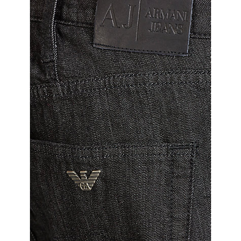 Buy Armani Jeans J81 Straight Leg Jeans, Black Online at johnlewis.com