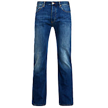 Buy Armani Jeans Basic Twill Straight Jeans, Blue Online at johnlewis.com