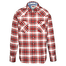 Buy Levi's Barstoe Check Long Sleeve Shirt, Auburn/White Online at johnlewis.com